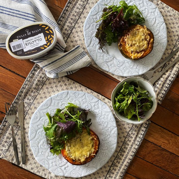 Cully and Sully Risotto stuffed Squash with Coolea Cheese